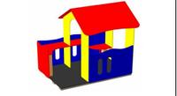 Детский уличный Домик-беседка Размеры: 2150х1510х1955мм
