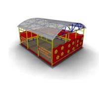 Веранда для детской площадки Размеры: 5495х4650х2810мм