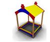 Детская игровая Песочница с навесом Размеры: 2190х2145х1950
