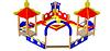 Песочный дворик без горки «Шахматы» Размеры: 4090х1090х2910мм