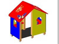 Детский уличный игровой Домик-беседка Размеры: 1715х1000х1520мм