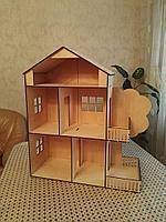 Кукольный деревянный домик для Барби, самосборный