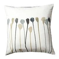 Чехол на подушку 50х50 СКУГСНЭВА серый/бежевый ИКЕА, IKEA , фото 1
