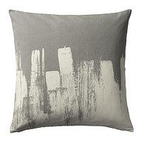 Чехол на подушку 50х50 СЛОЙГРАН серый/бежевый ИКЕА, IKEA , фото 1