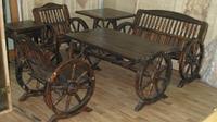 """Мебель """"Колесница"""" (стол и две лавочки)"""