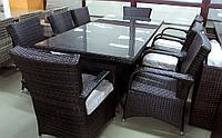 Обеденный комплект мебели из искусственного ротанга Александр  (стол + 8 кресел), фото 1
