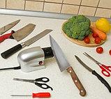 Электрическая универсальная ножеточка «Острые грани» для ножей, ножниц, отвёрток., фото 7
