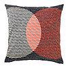 Чехол на подушку 50х50 ВОРЛЭК оранжевый/черный ИКЕА, IKEA