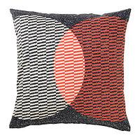 Чехол на подушку 50х50 ВОРЛЭК оранжевый/черный ИКЕА, IKEA , фото 1