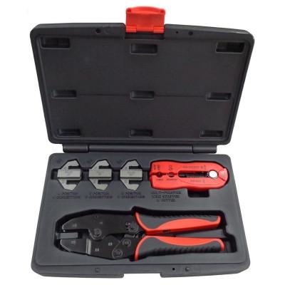Набор для обжима и зачистки кабелей, кейс, 5 предметов МАСТАК 106-40005C