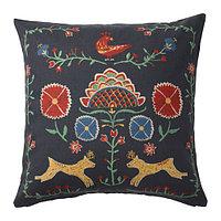Чехол на подушку 50х50 РЕНРЕПЕ разноцветный ИКЕА, IKEA , фото 1