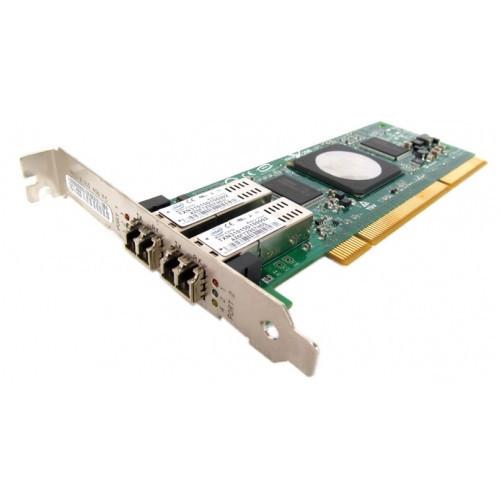 39M6014 Сетевой Адаптер IBM DS4000 (Qlogic) QLA2462-IBMX FC2410401-37 2x4Гбит/сек Dual Port Fiber Channel HBA LP PCI-X 2.0 266Mhz