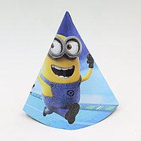 """Бумажный колпак на день рождения """"Минионы"""", фото 1"""