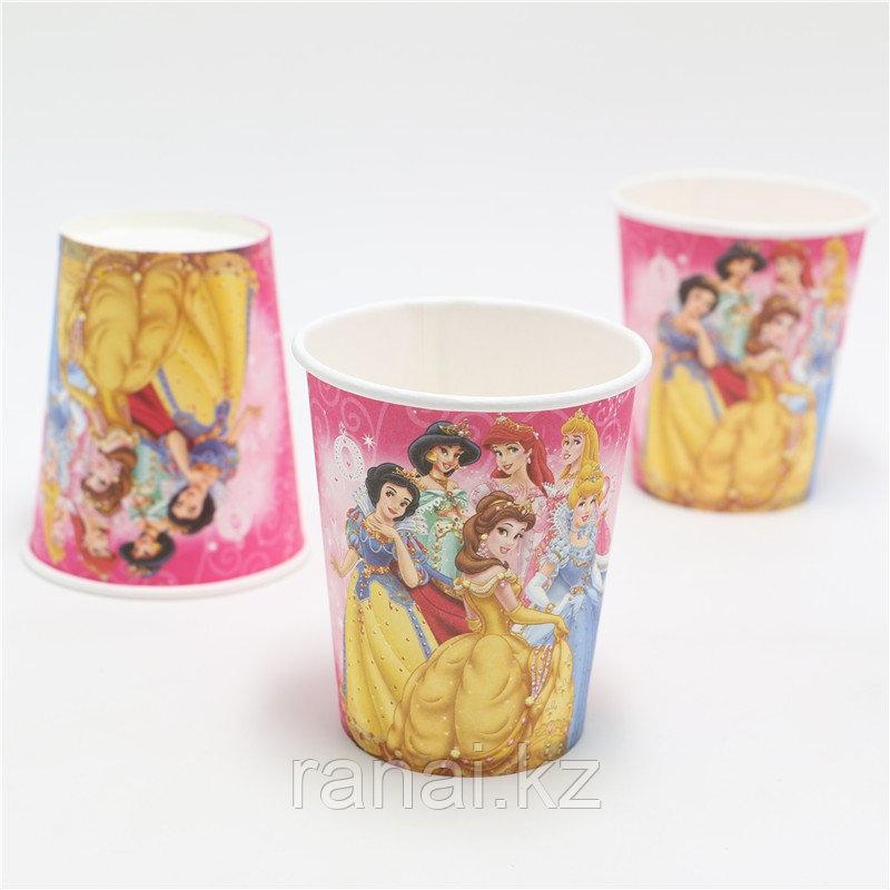"""Одноразовые стаканы для праздника  """" Принцессы"""""""