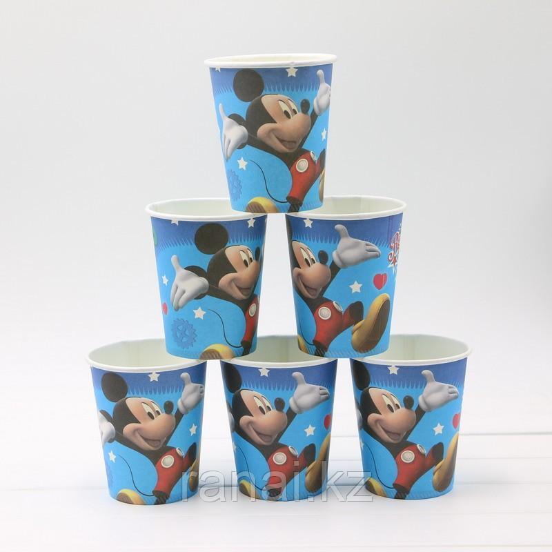 """Стаканчики одноразовые 10 штук """"Мики Маус""""Бумажные стаканчики"""