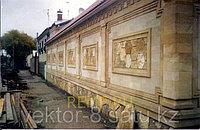Монтаж керамогранита на фасад