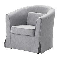 Кресло ТУЛЬСТА Нордвалла классический серый ИКЕА, IKEA , фото 1