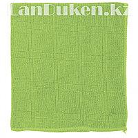 Салфетка для уборки кухни, зеленая из микрофибры 35х40 см ELFE 92314 (002)