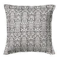 Чехол на подушку 65х65 ОКЕРКУЛЛА серый/белый ИКЕА, IKEA  , фото 1