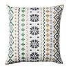 Чехол на подушку 50х50 ПИПОРТ бел/зелен ИКЕА, IKEA