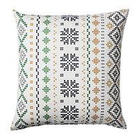 Чехол на подушку 50х50 ПИПОРТ бел/зелен ИКЕА, IKEA , фото 1