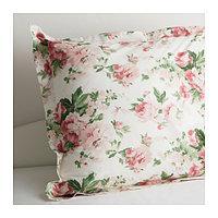 Наволочка 68х68 СИЛВЕРОРТ цветы ИКЕА, IKEA , фото 1