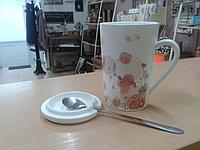 """Кружка """"Цветы"""" для чая. 360 мл. Маки разноцветные"""