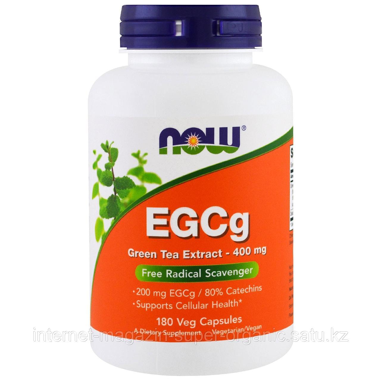 ЭГКГ, экстракт зеленого чая, 400 мг, 180 капсул, Now Foods