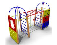 Уличный Детский Гимнастический комплекс 16 Размеры: 4115х1275х2650мм