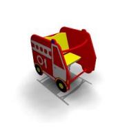 Детская Качалка на одинарной пружине «Пожарная 01» Размеры: 830х650х935мм