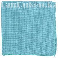 Салфетка для уборки бытовой техники и мебели жемчужная, голубая из микрофибры 40х40 см ELFE 92317 (002)