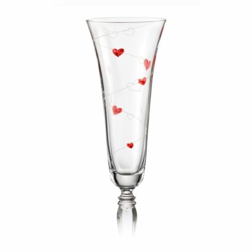 Фужеры свадебные для шампанского Victoria love 180мл шампанское 2шт 40727-K0107-180. Алматы
