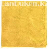 Салфетка для уборки бытовой техники и мебели жемчужная, желтая из микрофибры 40х40 см ELFE 92316 (002)