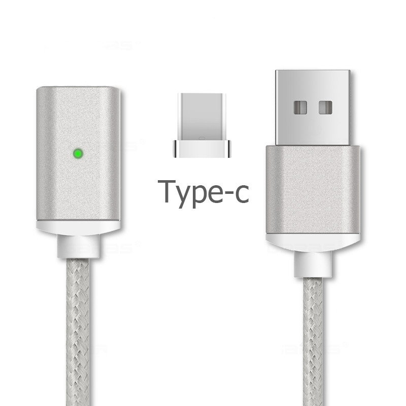 Магнитный Type-C кабель для OnePlus (серебристый)