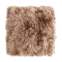 Чехол на подушку 50х50 СКОЛЬД овчина бежевый ИКЕА, IKEA , фото 1