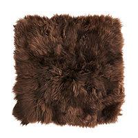 Чехол на подушку 50х50 СКОЛЬД овчина коричневый ИКЕА, IKEA , фото 1
