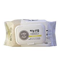 Taegwang Влажные детские антибактериальные салфетки премиум класса Mild & Soft Wet Wipes / 80 шт.