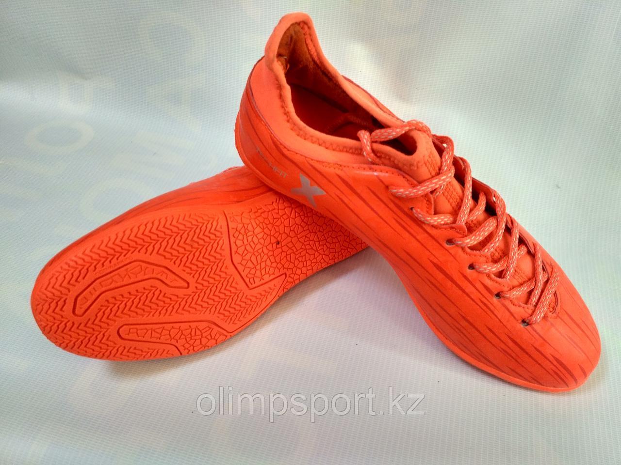Обувь футбольная Adidas X 16.3, красные