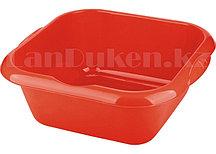 Таз квадратный пластмассовый 12л красный ELFE 92987 (002)