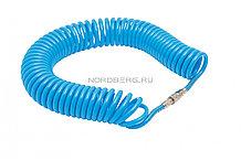 Шланг воздушный спиральный полиуретановый Ø10х14мм, 15м NORDBERG HS1015PU