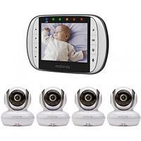 Видеоняняя Motorola цифровая беспроводная MBP36S-4 4 камеры