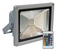 Цветной светодиодный прожектор 30W RGB влагостойкий IP65 с пультом ДУ