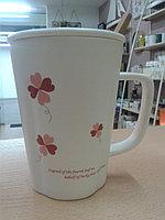 """Кружка """"Клевер"""". для кофе и чая. 320 мл. """"Клевер красный""""."""