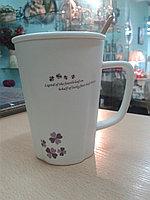 """Кружка """"Клевер"""". для кофе и чая. 320 мл. """"Клевер фиолетовый""""."""