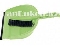 Набор совок с кромкой (23,5х33 см) и щетка сметалка (29 см) зеленый ELFE 93312 (002)