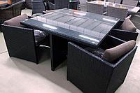 Комплект мебели из искусственного ротанга КУБ-4 (стол + 4 кресла), фото 1