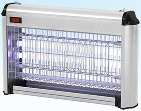 Уничтожитель комаров работает на базе двух ультрафиолетовых ламп мощностью 8 Вт каждая, которые приманивают насекомых