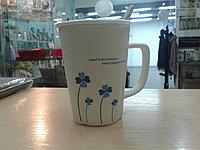 """Кружка """"Клевер"""". для кофе и чая. 320 мл. """"Клевер синий"""""""