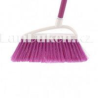 """Щетка для подметания пола """"LUX"""" 23 см розовая с черенком ELFE 93561 (002)"""
