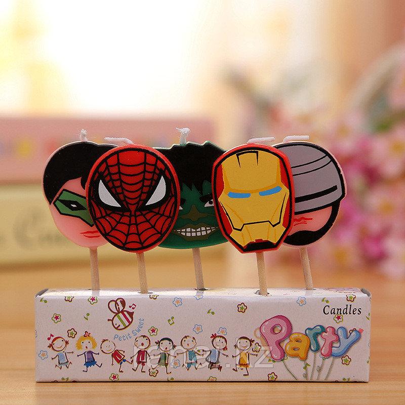"""Свечи для торта  5 штук  """"Супергерой"""""""